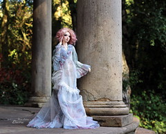 Greek Temple (pure_embers) Tags: pure embers bjd sd 13 doll dolls normal skin ns uk supia rosy electra girl supiadoll pureembers emberselectra photography photo ball joint resin angeltoast faceup portrait pink hair angell studio gown greek temple