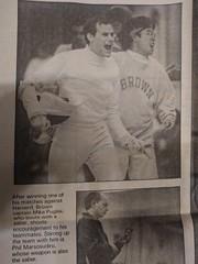 Mike Puglisi and Phil Marsosudiro (Ken_Mayer) Tags: fencing sports brownuniversity providence