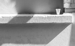 Hi-Key Cup (stephenbryan825) Tags: liverpool merseyside cup papercup selects shadows windowcill windows
