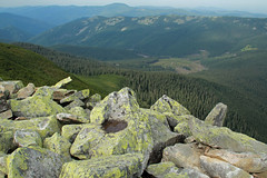 View of Yavirnyk Range from Synyak Mountain (Pavlo Kuzyk) Tags: carpathians karpaty mountains pine rocks landscape view nature canon