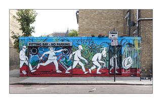 Street Art (Run), East London, England.