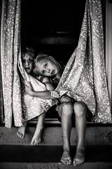 Sick day (aamith) Tags: candid nikon blackandwhite fever sick kids
