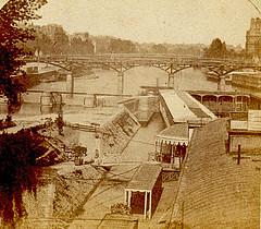 Le Cour des Arts.  1860. (caramoul25) Tags: paris courdesarts vertgalant square pontdesarts seine écluse louvre sepia caramoul25