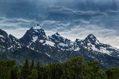 Departing Storm (docoverachiever) Tags: scenery storm tetons nature mountains grandtetonnationalpark peaks landscape clouds wyoming