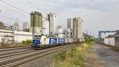 WLBCargo 1193 980 met een containertrein onderweg. (twenterail) Tags: wlb vectron eisenbahn zug siemens trein