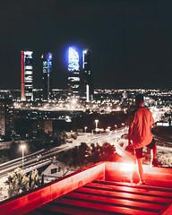 Dark Knight (Atlashot) Tags: urbex urban eploration explorer madrid españa spain photography illegal graffiti rooftopping rooftop skyscraper skyscrapers rascacielos risk