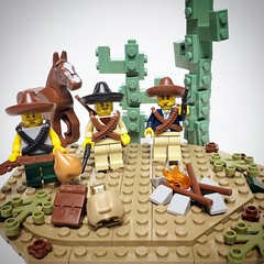 Bad Hombres.  Minifig accessories from @brickwarriors warrior packs. #afol #lego #moc #minifig #minifigure #BrickWarriors #warriorpacks #desert #cactus #horse #badhombres #bad #hombres (Anthony Radzimoski) Tags: moc warriorpacks bad hombres brickwarriors afol horse lego minifigure cactus desert minifig badhombres