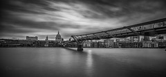 The millennium  Bridge (Through Bri`s Lens) Tags: london millenniumbridge riverthames brianspicer canon5dmk3 canon1635f4