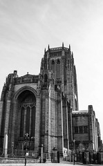 Anglican Cathedral, Liverpool (bobbex) Tags: liverpool liverpoolarchitecture merseyside northwestengland bw blackandwhite blackwhite monochrome unescoworldheritagesite anglican church cathedral religious worship