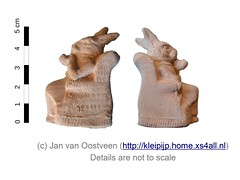 Figurine (pipe clay) (janvanoostveen) Tags: pipe clay toy st quentin la poterie job clerc smoking rabbit lapin depose