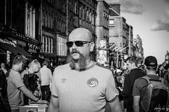Tash (Cycling-Road-Hog) Tags: blackwhite candid canoneos750d citylife colour efs55250mmf456isstm edinburgh man monochrome people places royalmile scotland shades street streetphotography streetportrait style urban