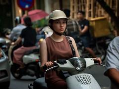 Hanoi Street (Rod Waddington) Tags: vietnam vietnamese streetphotography street hanoi scooter helmut woman candid portrait people outdoor