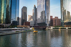 Chicago River Morning (romanboed) Tags: leica m 240 summicron 28 usa illinois summer chicago city street downtown morning skyscrapers river riverfront
