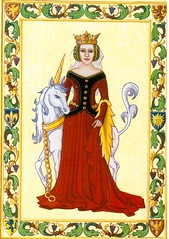 Postcrossing US-5543261 (booboo_babies) Tags: unicorn royal red magicalcreature reddress drawing art postcrossing