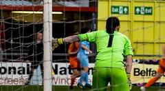 Ladies League Cup Final (TheGavinMaxwell) Tags: ladies football league cup final seaview belfast northern ireland sport goalkeeper ballymena goal sky blue orange