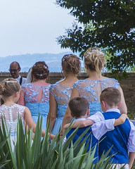 Wedding Day, Petritoli, March, Italy,  22nd August 2018 (Steve Weaver) Tags: wedding march italy italia blue purple bridesmaid bridesmaids pageboy pageboys children women petritoli palazzomannocchi