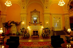 Nashville Tennessee  - Hermitage  Hotel - Historic Hotel - Lobby Area (Onasill ~ Bill Badzo - 56 Million Views - Thank Yo) Tags: hermitage hotel interior nashville tn tennessee nrhp historic fireplace gene autry champion beauxs art architecture lobby staircase onasill historical vintage old photo heritagehotel landmark style beaux arts golden ceiling attractionsite terra cotta room sleep luxury costly downtown