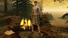 ESCOCES (Sebastriano) Tags: boyberry scottish man sl kilt boots flat cape socks shirt