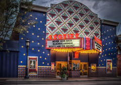 The Esquire Theatre (donnieking1811) Tags: ohio cincinnati clifton ludlowavenue esquiretheatre theatre theater colorful architecture building exterior marquee sign lights hdr canon 60d lightroom photomatixpro