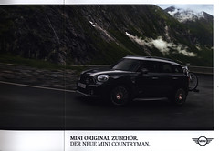 Mini Countryman. Der neue - Mini Original Zubehör. 2017, car brochure (World Travel Library - collectorism) Tags: mini minicountryman zubehör accessories 2017 carbrochurefrontcover frontcover car brochures salesliterature auto worldcars world travel library center worldtravellib automobil papers prospekt catalogue katalog vehicle transport wheels makes models model automobile automotive motor motoring drive wagen photos photo photograph picture image collectible collectors ads fahrzeug englishautomobiles englishcars cars سيارة 車 documents dokument broschyr esite catálogo folheto folleto брошюра broşür