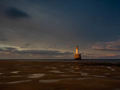 Rattray Head Lighthouse (burnsmeisterj) Tags: olympus omd em1 rattrayhead lighthouse scotland sky sea beach sunset