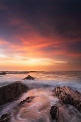 Ocean Flow (Rob Christiaans  Landscape & Wildlife) Tags: canon5dmkiii canonef1635f4is leend09reversegrad gitzogt5532ls portugal alentejo almograve sunset ocean atlantischeoceaan luminositymasks robchristiaans rocks leefilters lpm