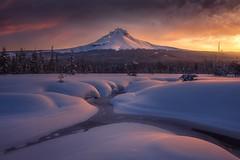 From the Foothills (Ryan Dyar) Tags: ryandyar snow winter sunrise mountain mthood mounthood oregon