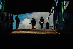 Citizens (ewitsoe) Tags: 35mm city cityscape nikond80 street warszawa erikwitsoe pedestrians summer urban warsaw silhoutte people crowd activity train station walking work life living commuters streetphotography urbanites