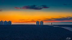 Cayeux_sur_mer_0716-70-2 (Mich.Ka) Tags: cayeuxsurmer picardie baiedesomme beach borddemer cabane cabanedeplage coucherdesoleil galet graphic graphique hautsdefrance landscape minimalism minimalisme minimaliste paysage plage sable sand somme sunset