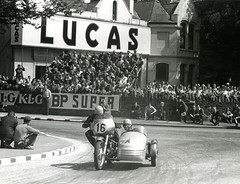 Sidecar International TT (British Motor Industry Heritage Trust Archive) Tags: bmiht britishmotormuseum lucascollection lucas history vintage archive motorbike motorcycle racing bike sidecarracing sidecar