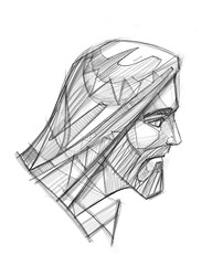 Jesus Christ Face pencil illustration (iknuitsin) Tags: handdrawn illustration drawing ink sketch image religious religion catholic christian spiritual divine holy sacred pencil jesus christ digital god man face head gray art design graphic