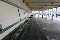 Margate,11 (doojohn701) Tags: bench seats shelter building bulkhead rubbish architecture columns margate uk