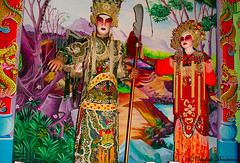 Chinese performing arts. Singapore (Veselina Dimitrova) Tags: arts costumes makeup red srts chinese artists performers theatre theater singapore art culture people colorful scene decor