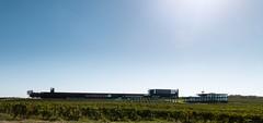 Rambla - Cebollero architects. Laus Winery #1 (Ximo Michavila) Tags: rambla cebollero architects laus winery barbastro huelva aragon spain cellar ximomichavila architecture archdaily archidose archiref wine somontano vineyard sky blue day clear sunlight countryside landscape