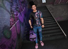 LOTD 266 (Brendo Schneuta) Tags: homage hair tiller shirt clefdepeau exalted nativeurban native shoes sneakers versov bag badunicorn backdrop mancave tmd thearcade access event events japan pants jeans catwa signature bento new releases fatpack bracelet game avatar mens boy male style fashion estilo keepcalm secondlifeblog secondlife second blog bloggersl blogger