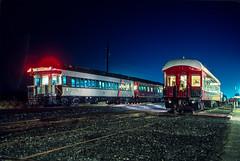 NJ Transit (on W&W); Bridgeton NJ; 2/1991 (Railroad Photographer) Tags: night newjersey winchesterwestern newjerseytransit observationcar nj njtransit njt ww wwnj