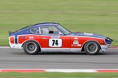 1974 Datsun 240Z 3000cc - Bruce Weir - CSCC Swinging Sixties 2018 - Donington Park (anorakin) Tags: 1974 datsun 240z 3000cc bruceweir cscc swingingsixties 2018 doningtonpark