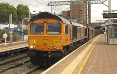 66774 West Ealing (localet63) Tags: class66 gbrailfreight 66774 westealing emptysteelcarriers 6v30