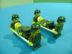 Custom Lego WW2 German soldiers with stretcher (TekBrick) Tags: custom lego ww2 german soldiers officer wounded war moc minifigure head bandage stretcher