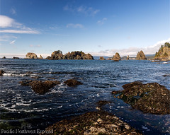 Point of the Arches (All h2o) Tags: point arches shi beach olympic national park pacific northwest coast peninsula ocean sea landscape seaside water sky rock stack bay shore