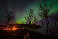 [tribal dance] (Ennio Pozzetti) Tags: norway aurora northernlights fire night nightscape stars norge glow light travel adventure landscape