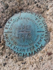 US Coast & Geodetic Survey bench mark along Break Iron Hill Rd in Monongalia County, WV. (Brian Masney) Tags: biking places monongaliacounty activities usa westvirginia