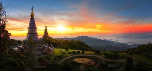 Twin pagoda in doi Inthanon national park