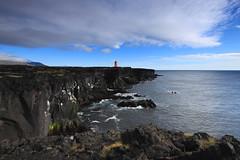 Skálasnagaviti, Svörtuloft, Iceland (fredschalk) Tags: icelandiclighthouses iceland seascapes lighthouses skálasnagaviti svörtuloft snæfellsnes snaefellsness