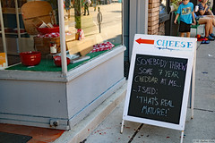 Cheesy humour/ humor (Can Pac Swire) Tags: toronto ontario canada canadian city cultural eastern european festival ethnic heritage roncesvalles polish 2018 cheese shop store 2018aimg2226