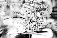 Merry-Go-Round (miniwaites) Tags: nex carousel processed mono sony childgg merrygoround a6000 nik monochrome ride themepark blur analogueefex blackandwhite movement amazement bw horse fun niksuite begelly wales unitedkingdom gb