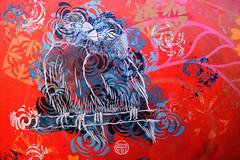 Two (HBA_JIJO) Tags: streetart urban graffiti vitry vitrysurseine pochoir stencil animal art france stew hbajijo wall mur painting oiseau peinture bird paris94 urbain canari