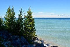 Blue skies, calm waters (Jake (Studio 9265)) Tags: michigan usa united states america mi june 2018 up north outside outdoor water sky lake huron island mackinac blue beauty nature