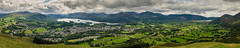 Panoramic view over Keswick & Derwent Water from Latrigg, Keswick, Cumbria, Lake District, England (Anthony Lawlor) Tags: keswick latrigg panoramic fell lakedistrict lake derwent water panorama pano sky countryside country northwest cumbria green cloud daytime stitch view amazing landscape hike viewpoint