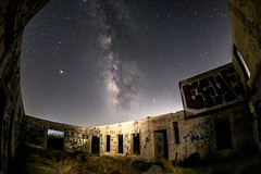 Milky Way Above the Ruins of the Buckman Springs Lithia Water Bottling Plant (slworking2) Tags: buckmansprings abandoned milkyway sandiego lithiawater galaxy night sky california pinevalley unitedstates us